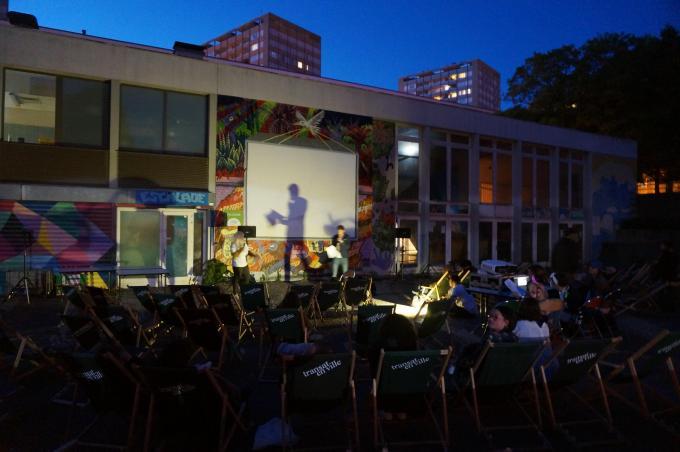 Présentation du film Retour a Genoa City diffusé en plein air